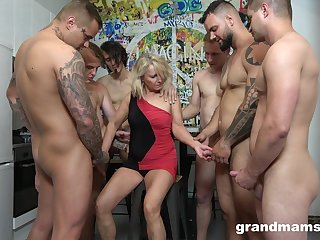 Retired virago Marta goes wild with several hot and young dudes