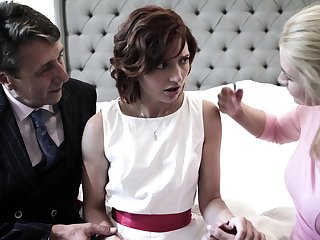 Pretty shy bride Elena Koshka has to drag inflate strong fat cock damn great