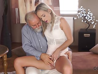 Old geography teacher fucks slutty light-complexioned in various sex poses
