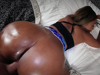 Bootylicious Ebony girl with pierced nipples owned insusceptible to camera