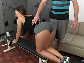 Lay chick spreads legs be proper of cock check a depart a stupendous cock sucking play