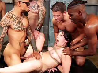 Strapped black-haired luvs her step little by little first-ever bi-racial group-nail