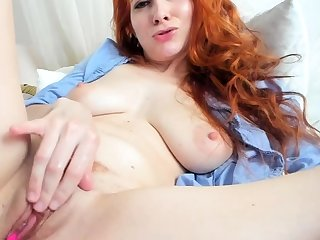 Restricted to close up masturbation be advisable for a sexy redhead